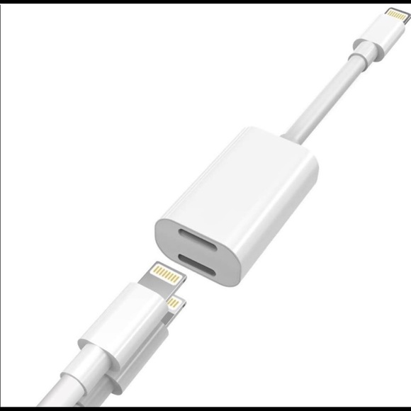 official photos db0f2 4f701 2in1 apple iPhone lightning Dongle cable Splitter NWT